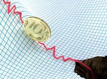 Ruble crisis Royalty Free Stock Photos