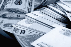 Ruble-dollar сurrency speculation. Royalty Free Stock Photos