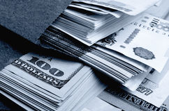 Ruble-dollar сurrency speculation. Stock Photos