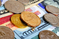 Ruble dollar сurrency speculation. Royalty Free Stock Photo