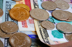 Ruble dollar сurrency speculation. Stock Photo