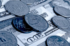 Ruble dollar сurrency speculation. Stock Images