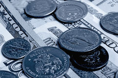 Ruble dollar сurrency speculation. Royalty Free Stock Images