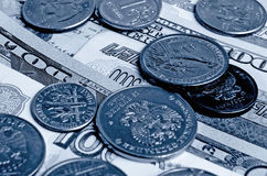 Ruble dollar сurrency speculation. Currency speculation on the ruble dollar exchange Royalty Free Stock Photo