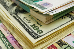 Ruble-dollar сurrency speculation. Currency speculation on the ruble-dollar exchange Royalty Free Stock Photos