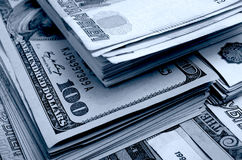 Ruble-dollar сurrency speculation. Royalty Free Stock Images