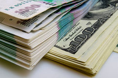 Ruble-dollar сurrency speculation. Stock Images