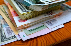 Ruble-dollar сurrency speculation. Currency speculation on the ruble-dollar exchange Royalty Free Stock Photography