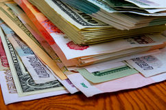 Ruble-dollar сurrency speculation. Royalty Free Stock Image