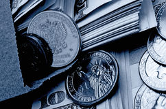 Ruble dollar сurrency speculation. Currency speculation on the ruble dollar exchange Royalty Free Stock Photos