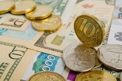 Ruble exchange rate. Stock Image