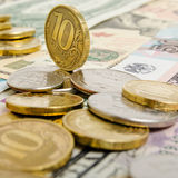 Ruble exchange rate. Royalty Free Stock Image