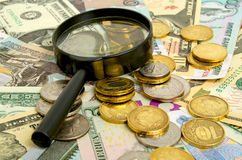 Ruble exchange rate. Stock Images