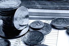 Ruble exchange rate. stock photography
