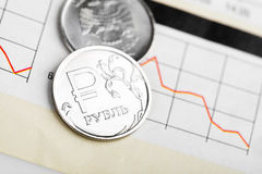 Ruble exchange rate Royalty Free Stock Image