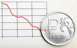 Ruble exchange rate Royalty Free Stock Photo