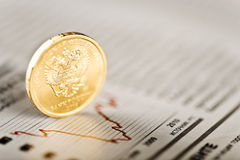 Ruble exchange rate Stock Photography