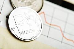 Ruble exchange rate Stock Photo