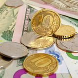Ruble exchange rate. Royalty Free Stock Photo