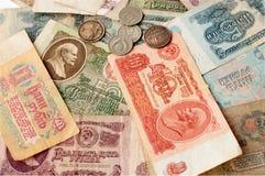 Ruble i kopiejki Radziecki okres Zdjęcie Stock