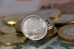 Ruble icon Stock Photography