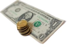 Ruble rate Stock Photography