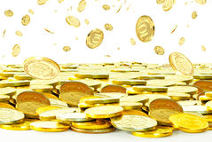 Rubles in the air. Royalty Free Stock Photography