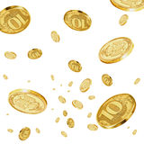 Rubles in the air. Royalty Free Stock Photos