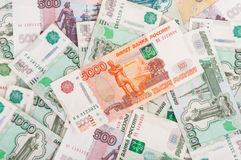 Rubles background Royalty Free Stock Images