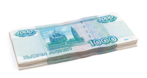 Rubles banknotes Royalty Free Stock Photos