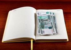Rubles in the Book Royalty Free Stock Image