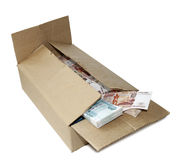 Rubles in box Royalty Free Stock Photo