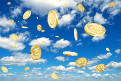 Rubles in the sky. Stock Image