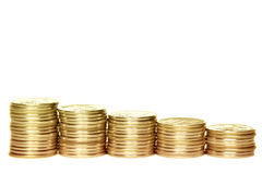Rubles on a white background Stock Image