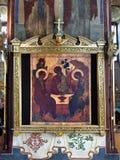 Rublev的三位一体象 免版税库存图片