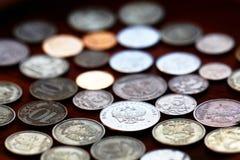 Rubli brillanti delle monete Immagini Stock Libere da Diritti