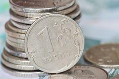 Rubli di monete Fotografie Stock Libere da Diritti
