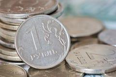 Rubli di monete Fotografia Stock
