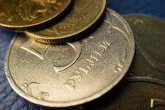 5 rubli di soldi del Russo Immagine Stock