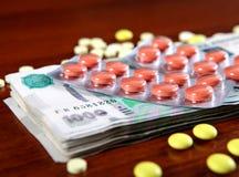 Rubli e rifornimenti medici Fotografie Stock
