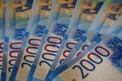 2000 rubli - nuovi soldi della Federazione Russa Fotografie Stock Libere da Diritti