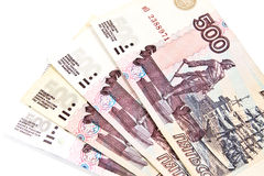 Rubli russe Immagini Stock