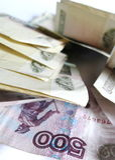 Rubli russe Immagine Stock Libera da Diritti