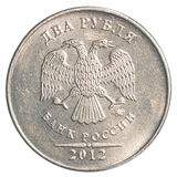 2 rubli russe di moneta Fotografia Stock