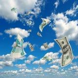 Rubli sfregamento-USD di corso. Fotografie Stock Libere da Diritti
