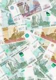 RUBLI, soldi russi Fotografia Stock Libera da Diritti