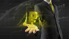 Rublo da posse do homem de negócio disponível ilustração stock