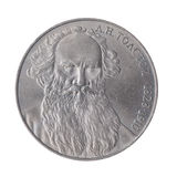 Rublo de LN Tolstoy URSS Foto de Stock Royalty Free