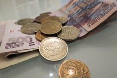 Rublo de russo Fotografia de Stock Royalty Free