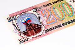 Rublo de russo europeu da cédula 200 do currancy Fotografia de Stock